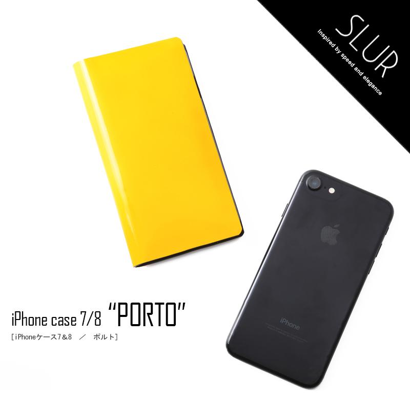 【SLUR】エナメルiPhone7 iPhone8専用ケース Porto(ポルト)  【5月14日頃出荷分】 376-S2722-0