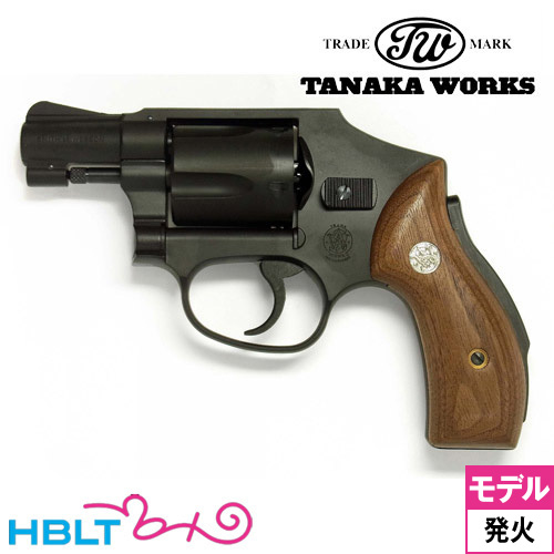 【タナカワークス(Tanaka)】S&W M40 センチニアル 1966 Early Model HW ブラック 2インチ(発火式モデルガン/完成/リボルバー)/SW/Smith & Wesson/Jフレーム