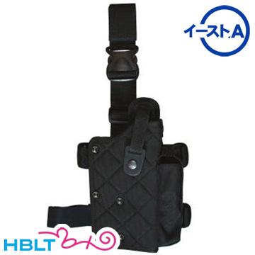 【イースト.A(East.A)】レッグ ホルスター 93R、DE、ライト付対応(Mgポーチ付 Black)|型番:128 BK