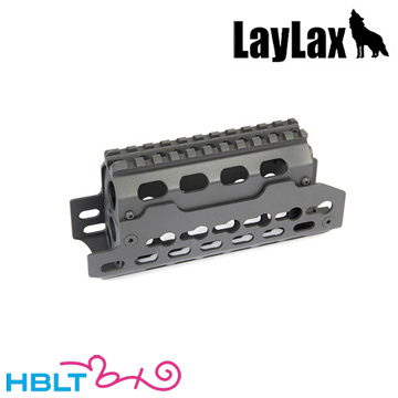 ライラクス 次世代 AKS74U Keymodレイルハンドガード /カスタムパーツ レール キーモッド LayLax Nitro.Vo ニトロヴォイス サバゲー