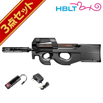 フルセット 東京マルイ P90 TR 電動ガン バッテリー 充電器セット /電動 エアガン P-90 サバゲー 銃