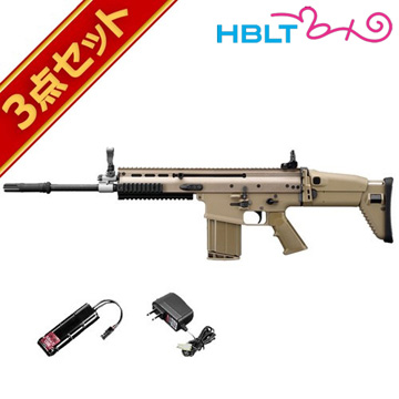 フルセット 東京マルイ SCAR-H フラットダークアース 次世代電動ガン バッテリー 充電器セットスカーH エアガン サバゲー 銃