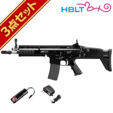 フルセット 東京マルイ SCAR-L CQC ブラック 次世代電動ガン バッテリー 充電器セット /電動 エアガン スカーL サバゲー 銃