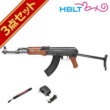 フルセット 東京マルイ AK47S フォールディングストック 電動ガン バッテリー 充電器セットエアガン サバゲー 銃
