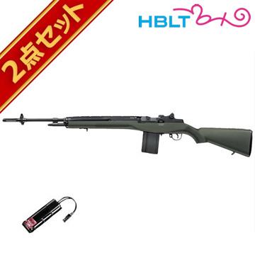 バッテリーセット 東京マルイ USライフル M14 ファイバーODストックバージョン 電動ガンエアガン サバゲー 銃
