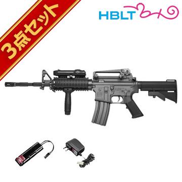 フルセット 東京マルイ コルト M4A1 RIS 電動ガン バッテリー 充電器セット /電動 エアガン サバゲー 銃