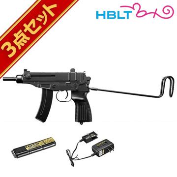 【送料無料】 新品未開封 18歳以上 フルセット 東京マルイ スコーピオン Vz.61 電動コンパクトマシンガン バッテリー 充電器セット /電動 エアガン サバゲー 銃