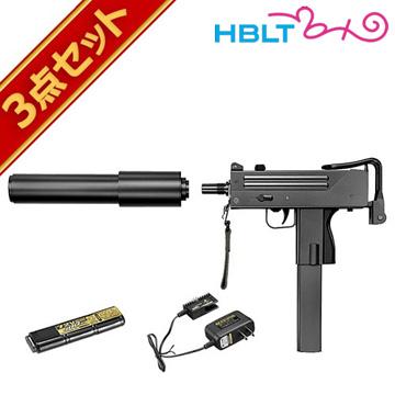 フルセット 東京マルイ マック10 電動コンパクトマシンガン バッテリー 充電器セット /電動 エアガン MAC10 サバゲー 銃