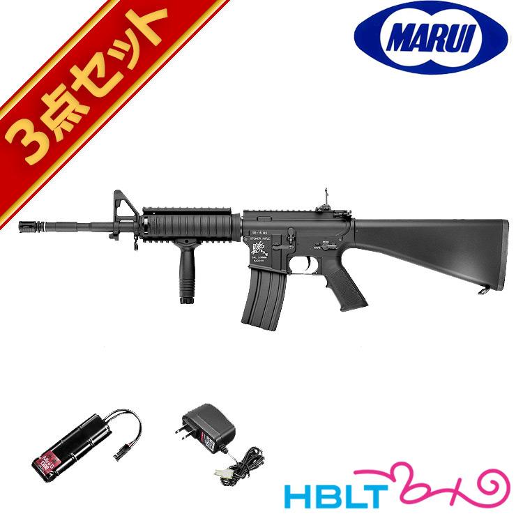 フルセット 東京マルイ ナイツ SR-16 M4カービン 電動ガン バッテリー 充電器セット /電動 エアガン KNIGHTS KAC 初心者 スターター サバゲー 銃