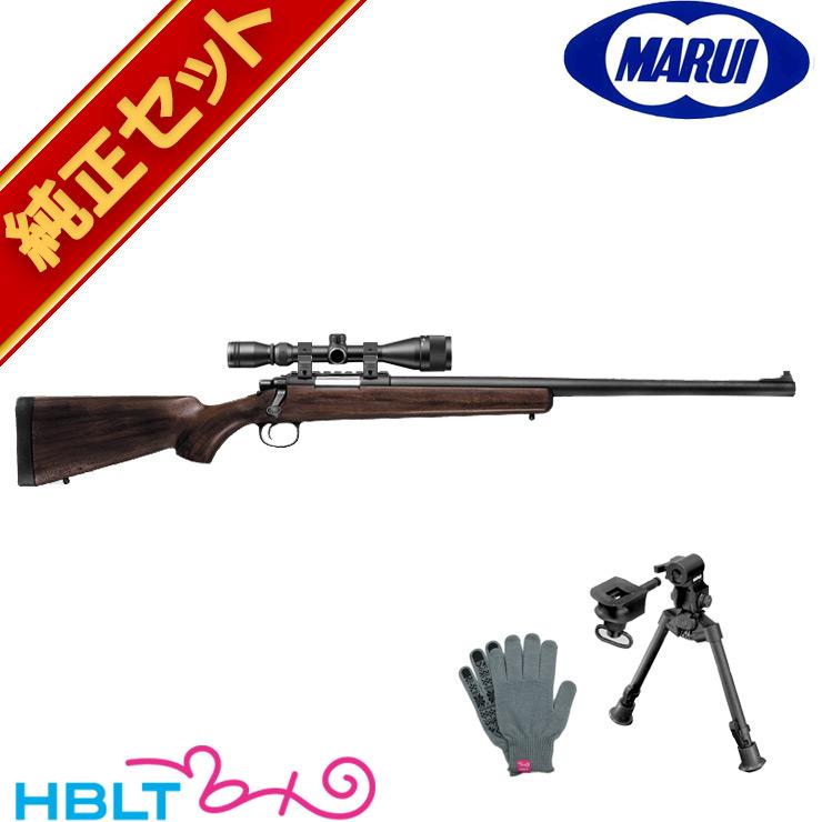 東京マルイ VSR-10 リアルショック ウッドタイプストック スナイパーライフル 純正 スコープ & バイポッドセット /エアガン (VSR10 本体+スコープ+マウントリング+マウントベース+バイポッド+軍手) 狙撃銃 ボルトアクション サバゲー 銃