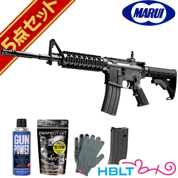 東京マルイ Colt M4A1 MWS (ガスブローバックマシンガン フルセット 本体+スペア マガジン+BB弾+ガス+オリジナル軍手)コルト Cerakore セラコート サバゲー サバイバルゲーム セット エアガン サバゲー 銃