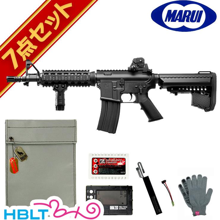 【東京マルイ】コルト M4 CQB-R Black 次世代電動ガン LiPoバッテリー フルセット /エアガン/コルト/リポ/フルセット