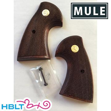 【CAW(MULE)】木製グリップ タナカ パイソン 用(1st チェッカ/メダル)/Colt/Python/357/Magnum/マグナム