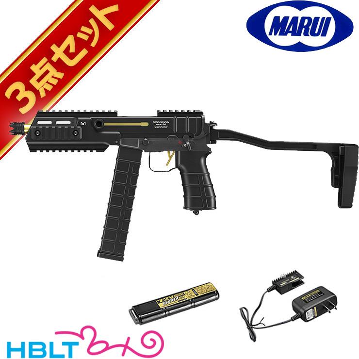 東京マルイ フルセット スコーピオン MOD.M 電動コンパクトマシンガン バッテリー 充電器セットScorpion サバゲー 電動ガン エアガン サバゲー 銃
