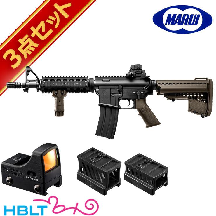 東京マルイ Colt M4 CQB-R FDE ドットサイト セット ( 次世代電動ガン + マイクロプロサイト + マウント) /電動 エアガン コルト ダットサイト フルセット サバゲー 銃