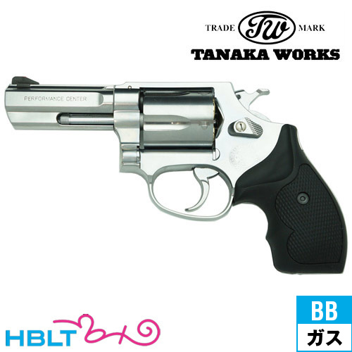 タナカワークス S&W M60 PC フラットサイド Ver.2 ステンレス 3インチ(ガスガン/リボルバー本体)/SW/Smith & Wesson/Jフレーム/Perfomance Center/パフォーマンス/センター Tanaka