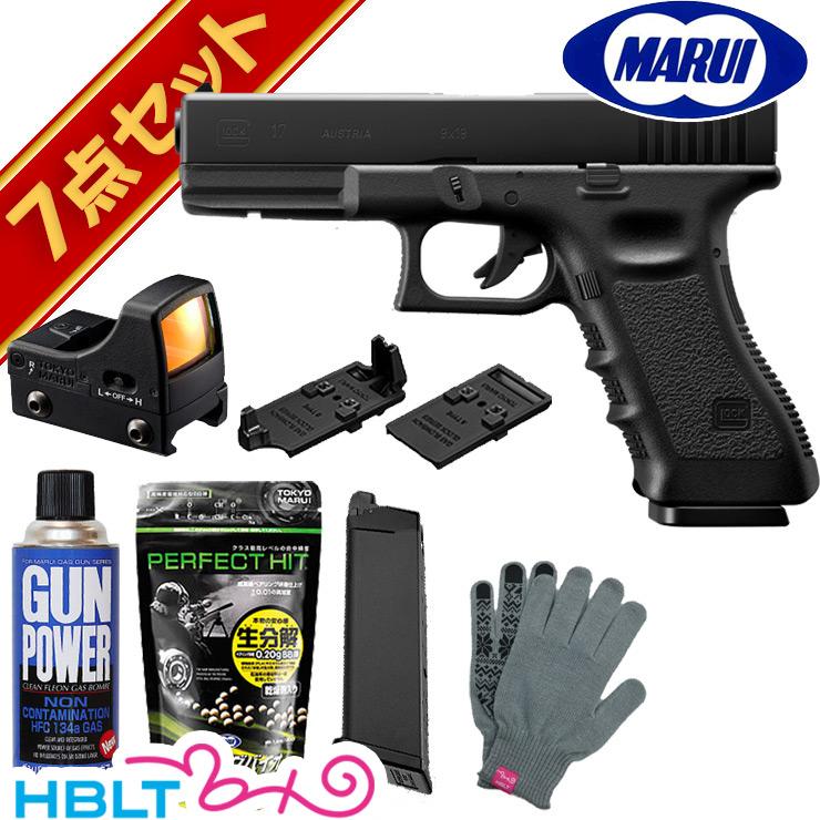 東京マルイ グロック17 ガスブローバック ハンドガン フルセット & マイクロプロサイト/Glock17 G17 サード ジェネレーション ドットサイト ダットサイト
