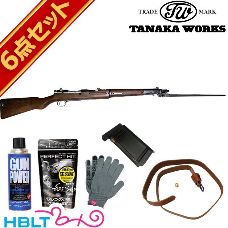 タナカワークス 四四式 騎兵銃 ガスライフル バージョン2 グレー スチール フィニッシュ フルセット /旧日本軍 旧軍 44式 ガスガン サバゲー 銃
