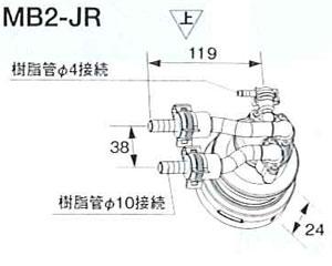 ノーリツ 循環アダプター MBバリエーション マイクロバブル対応 樹脂管接続(φ10)L型(右設置) MB2-JR