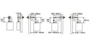 コロナアビーナG(FFW)用標準給排気筒QU8-2SM・QU8-2LM・QU8-2H