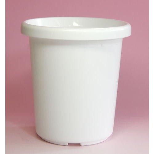 シンプルなプラ鉢 人気の製品 観葉植物などに アップルウェアー 本日限定 長鉢F型 8号 送料無料 メーカー直送の為代引不可 ホワイト