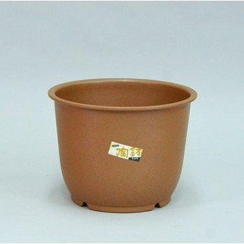 昔ながらの日本の焼き物調デザイン アップルウェアー 陶鉢 輪型 メーカー直送の為代引不可 NEW 9号 きん茶 アウトレット☆送料無料 送料無料