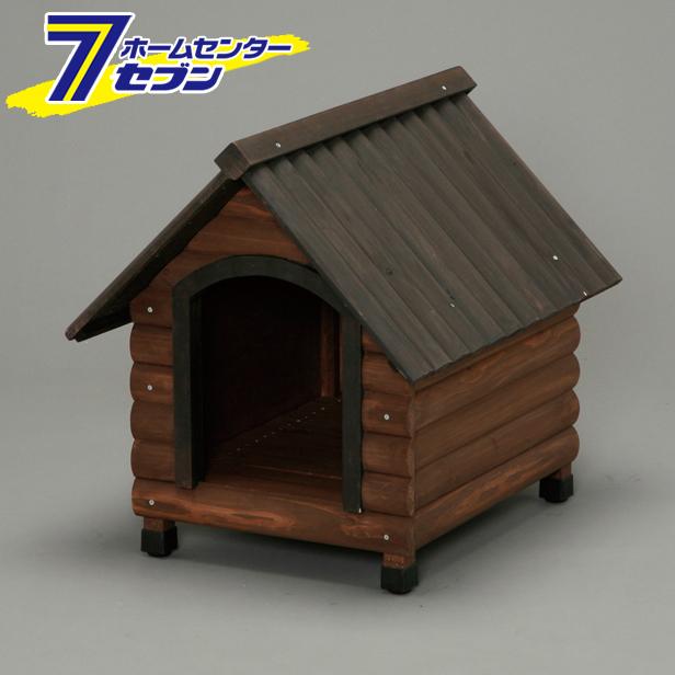 【送料無料】 ログ犬舎 ダークブラウン LGK-600 アイリスオーヤマ [犬小屋]