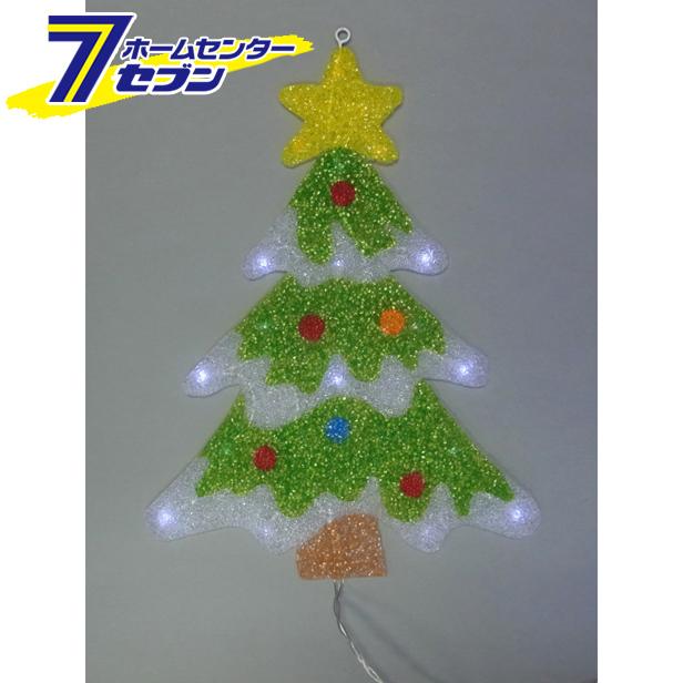 室内用 2Dウィンドウモチーフ クリスマスツリー L2DM906 LED  コロナ産業 [l2dm906 イルミネーション ライト led クリスマス コロナライト]【キャッシュレス5%還元】