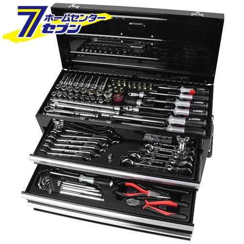 【送料無料】整備工具セット ブラック SST-16133BK 藤原産業 [作業工具 工具セット 整備工具セット]