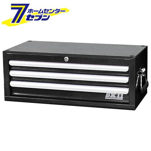 ミドルチェスト(3段引出し) SRC-3030BK 藤原産業 [作業工具 工具箱 スチール製]