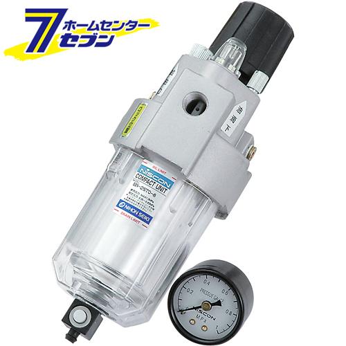 エアクリーンユニット 3機能 ACU-4 1/4 藤原産業 [電動工具 エアーツール 圧力計 機器]【キャッシュレス5%還元】