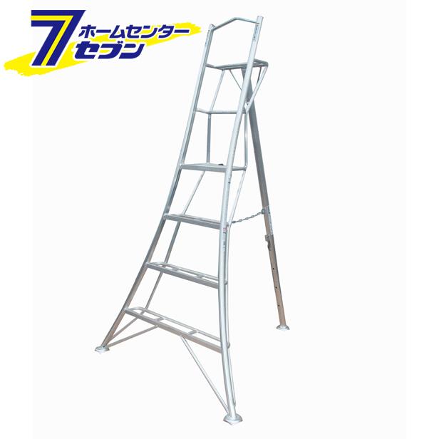 【送料無料】グリーンステップ 上枠付き三脚脚立 アルミ製 GSU1.0-180 長谷川工業