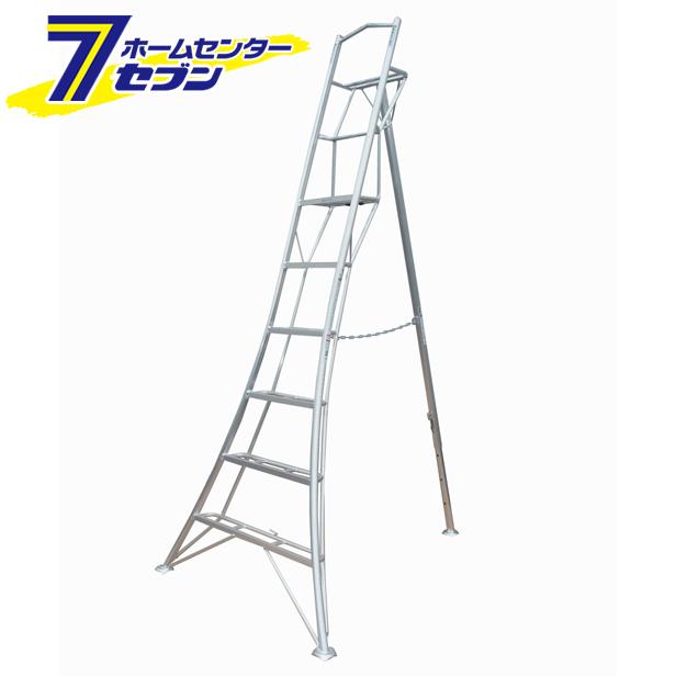 グリーンステップ 上枠付き三脚脚立 アルミ製 GSU1.0-240 長谷川工業 園芸三脚