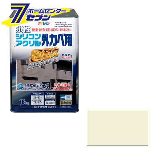 【送料無料】 アサヒペン 水性シリコンアクリル外かべ用 ミルキーホワイト 16KG[EOS]