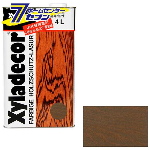 キシラデコール 4L 105 カスタニ アサヒペン [建築 住宅資材 接着剤 塗料 オイル塗料]
