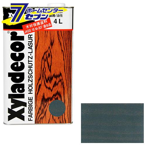 キシラデコール 4L 109 シルバグレイ アサヒペン [建築 住宅資材 接着剤 塗料 オイル塗料]