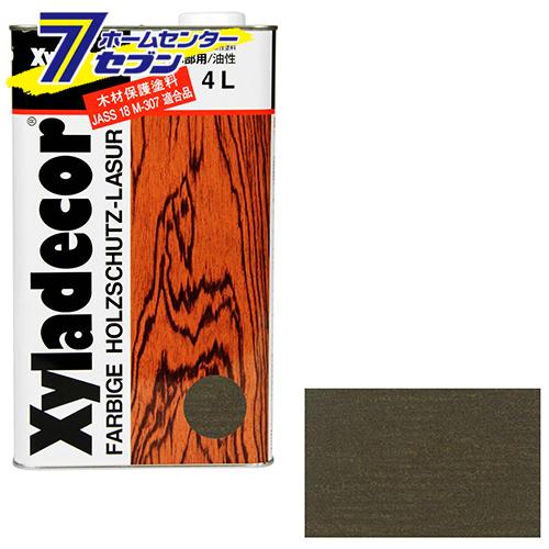 キシラデコール 4L 110 オリーブ アサヒペン [建築 住宅資材 接着剤 塗料 オイル塗料]