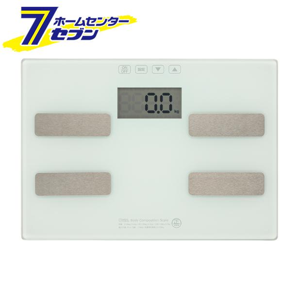 入荷予定 オーム電機 体重体組成計 ホワイト 品番 電池式 トラスト 体重計 08-3904 HB-KG11H1-W