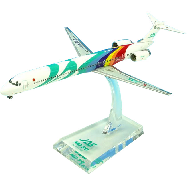 JAL/日本航空 JAS MD-90 1号機 ダイキャストモデル 1/200スケール BJE3034【キャッシュレス5%還元】【ポイントUP:2019年12月14日pm14時~12月18日am9時59】