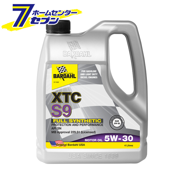 バーダル エンジンオイル XTC S9 5W-30 SN/CF 4L×6缶セット【キャッシュレス5%還元】【ポイントUP:2020年5月4日am10:00から5月7日am9:59】