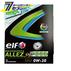 elf MOLYGRAPHITE ALLEZ SUPER ECO 0W20 部分合成油 1ケース(3L×6入り) エルフ [エンジンオイル 自動車]【キャッシュレス5%還元】