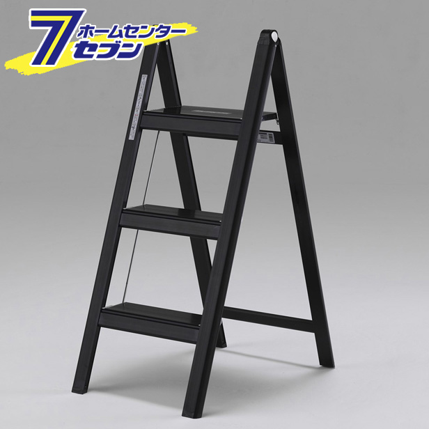 薄型踏台 3段(ブラック) SS80B アルインコ [踏み台 アルミ 軽量 枠]【キャッシュレス5%還元】【hc8】