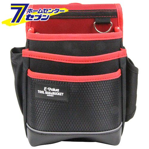 腰袋 3段 ブラックレッド EDK-2D サック 海外 藤原産業 RD 収納用品 商店