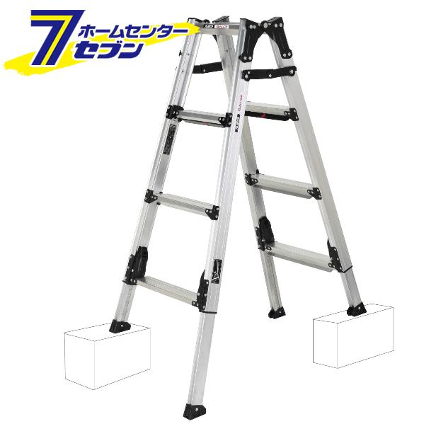 アルインコ 伸縮脚付はしご兼用脚立 約120cm GUS-120 アルミ脚立 上部操作式 折り畳み hc8 毎日激安特売で 営業中です 中折れ 梯子 GAUDI リベット方式 ガウディ 新品 ハシゴ