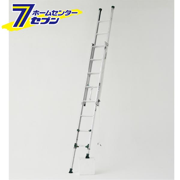 伸縮脚付2連はしご 約3.4m ANE-34FX アルインコ [梯子 はしご 作業台 踏み台 園芸用品 足場]【キャッシュレス5%還元】