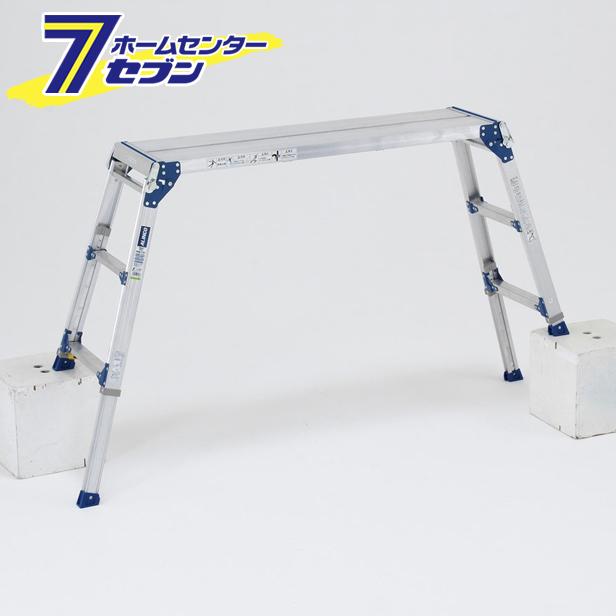 【送料無料】伸縮脚付足場台 PXGE712FX アルインコ [足場台 作業台 アルミ]