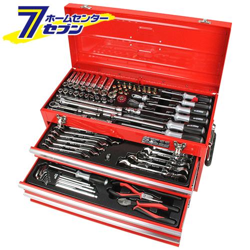 整備工具セット レッド SST-16133RE 藤原産業 [作業工具 工具セット 整備工具セット]【キャッシュレス5%還元】