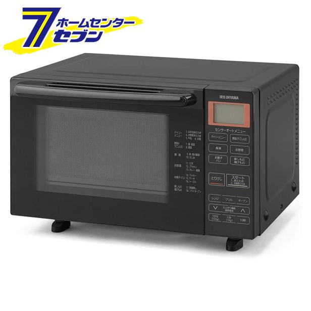 オーブンレンジ 18L ブラック BLMO-F1801-B アイリスオーヤマ [両面焼き 全国対応 1250W オートメニュー]