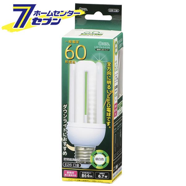 オーム電機 至上 LED電球 D形 E26 60形相当 昼白色 品番 06-1681 流行 ポイントUP:2021年3月4日pm20:00から3月11日am1:59まで 替 led 電球 LDF7N-G-E26