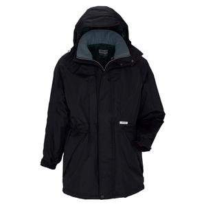 アイトス 防寒コート(男女兼用) カラー:ブラック サイズ:3L (ボウカンコート) [6160ー010]【4932514529400:11057】